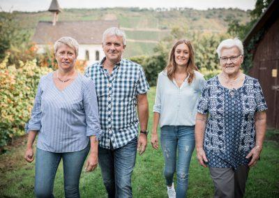 Familie laufen